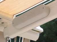 Wireless wind sensor for Dallas awning