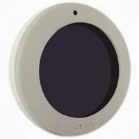 Sun sensor for motorized patio screens