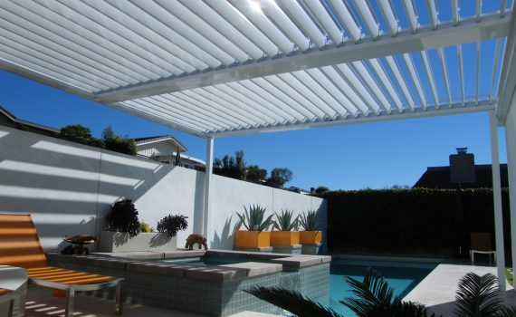 Dallas Equinox louvered roof for patio covers and deck covers