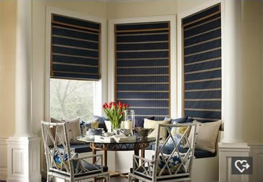 Provenance woven wood Dallas Roman shades